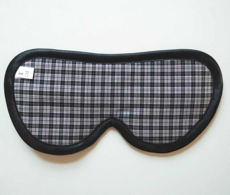 schlafbrille für männer schwarz-weiss-kariert