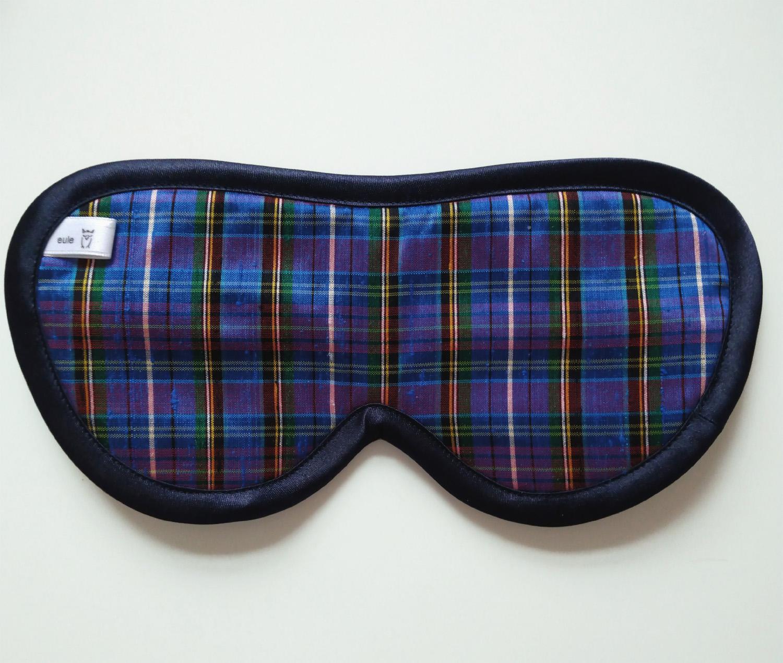 schlafbrille für männer bunt-kariert