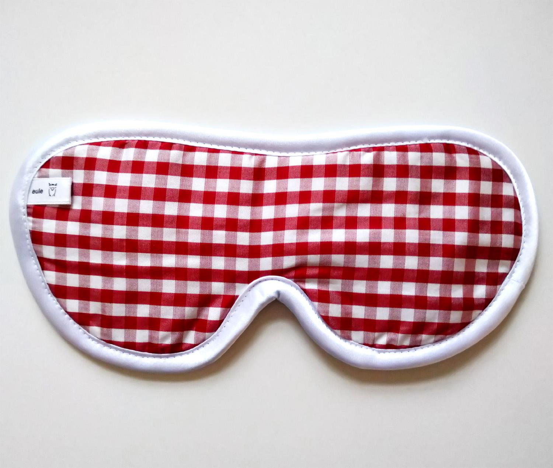 schlafbrille kariert aus bedruckter seide