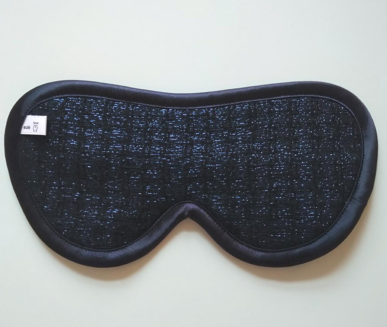 schlafbrille aus edler baumwolle mit glitzereffekt