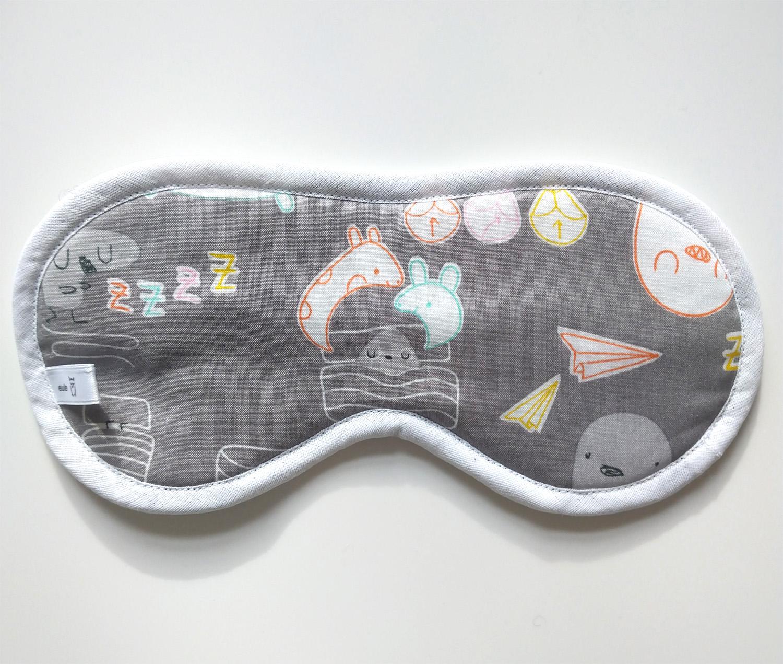 schlafbrille aus weicher baumwolle mit figuren