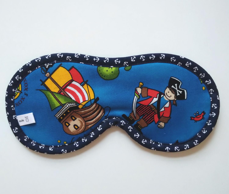 schlafbrille aus weicher baumwolle mit herzchen