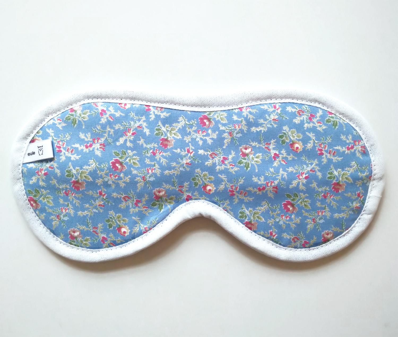 schlafbrille aus weicher baumwolle mit streublümchen