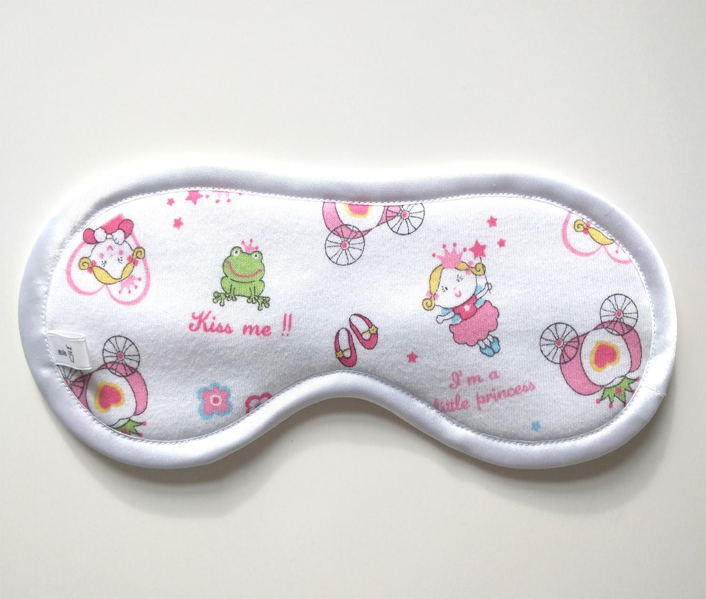 schlafbrille aus weicher baumwolle mit prinzessin-motiv