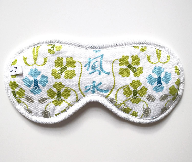 schlafbrille aus weicher baumwolle mit Ornamenten