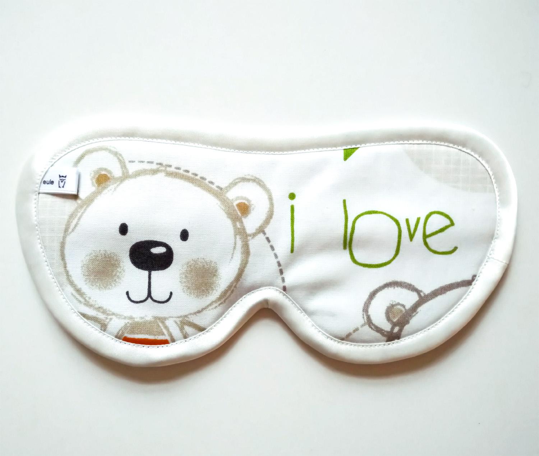 schlafbrille aus baumwolle mit bärchen
