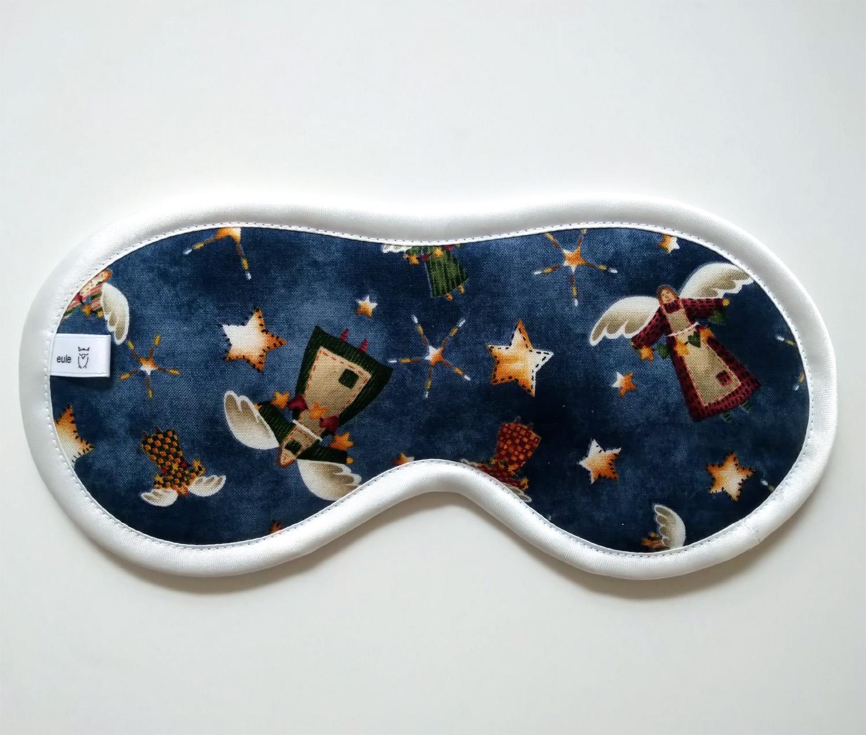 schlafbrille aus weicher baumwolle mit engeln
