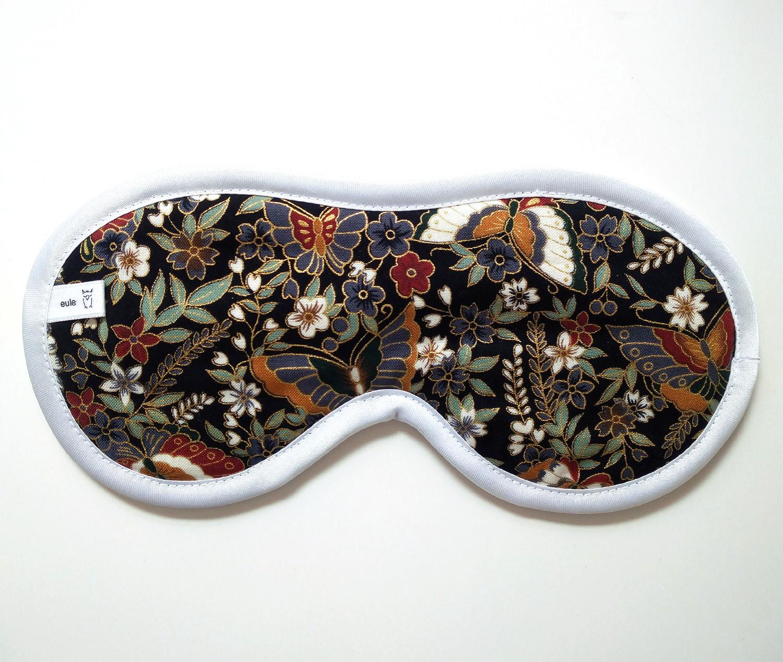 schlafbrille aus edler baumwolle mit floralem muster