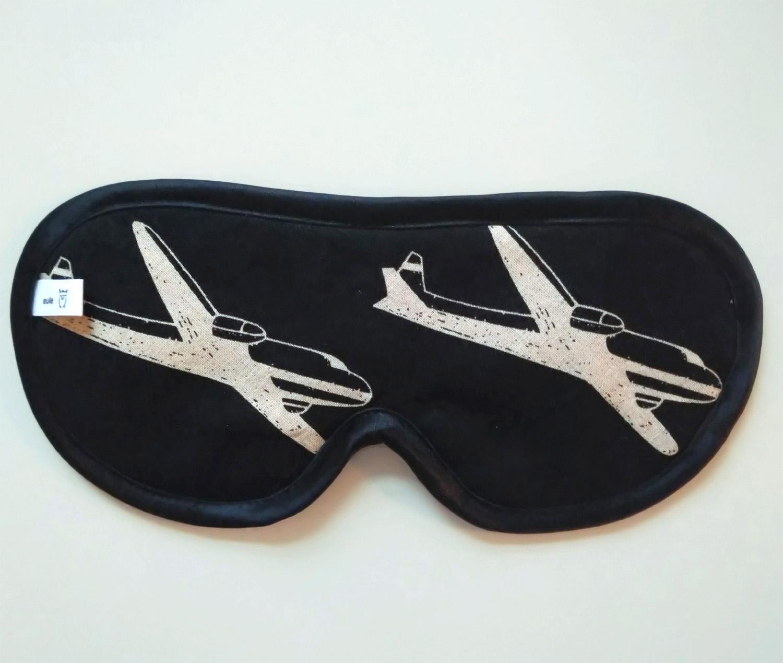 schlafbrille für männer mit flugzeugen