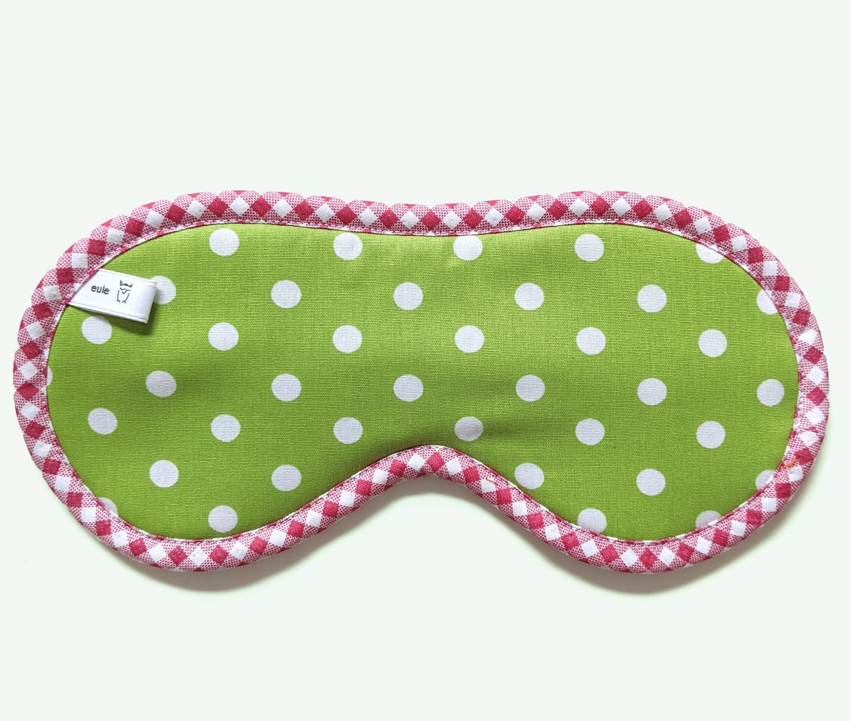 schlafbrille aus weicher baumwolle mit punkten