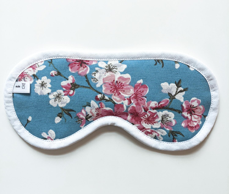 schlafbrille aus weicher baumwolle mit blümchen