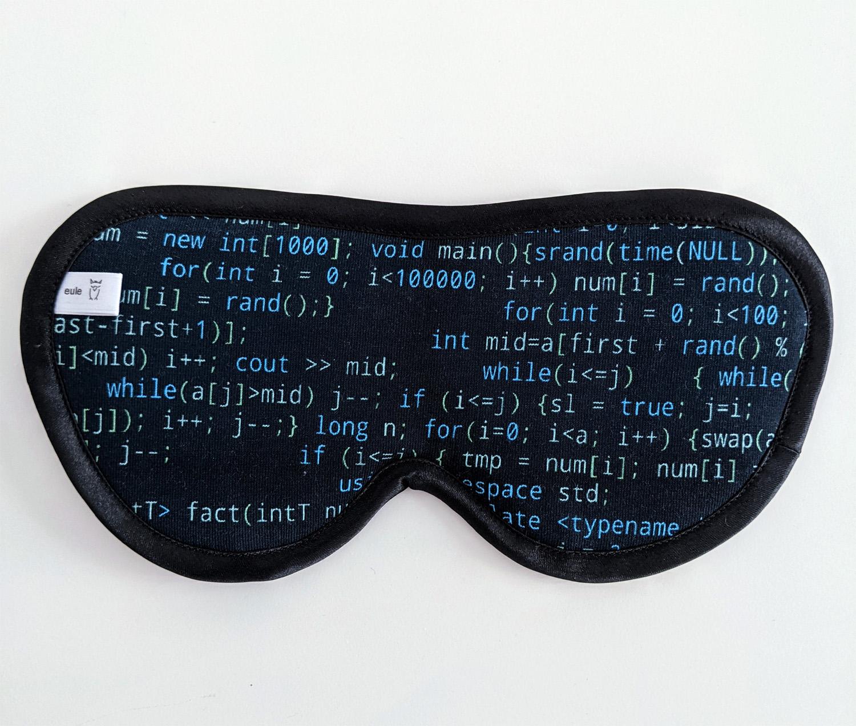 schlafbrille für männer mit programmiersprache