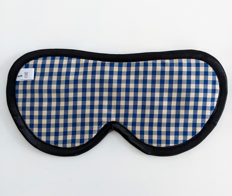 schlafbrille für männer aus karierter Seide